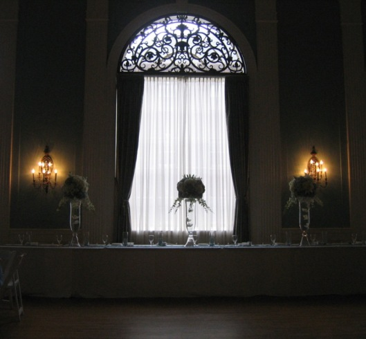 Silhouette of Head Table