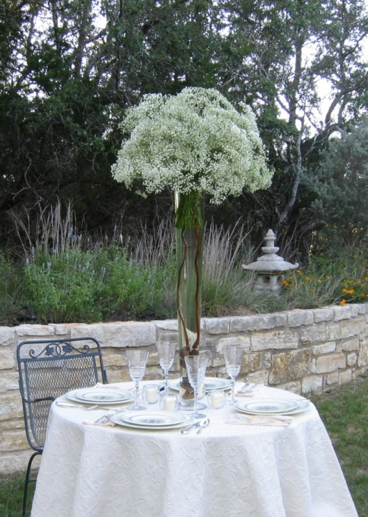 Baby's Breath Table Setting.
