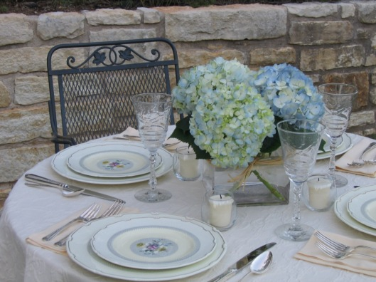 Hydrangea Table Setting.