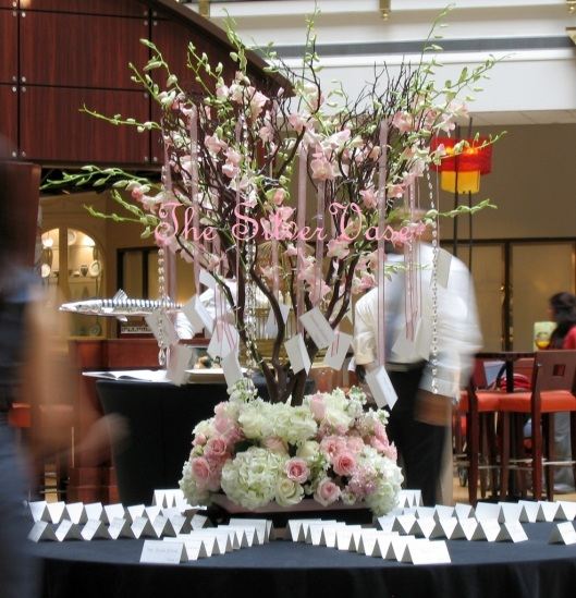 Pink Orchid Tree Escort Table